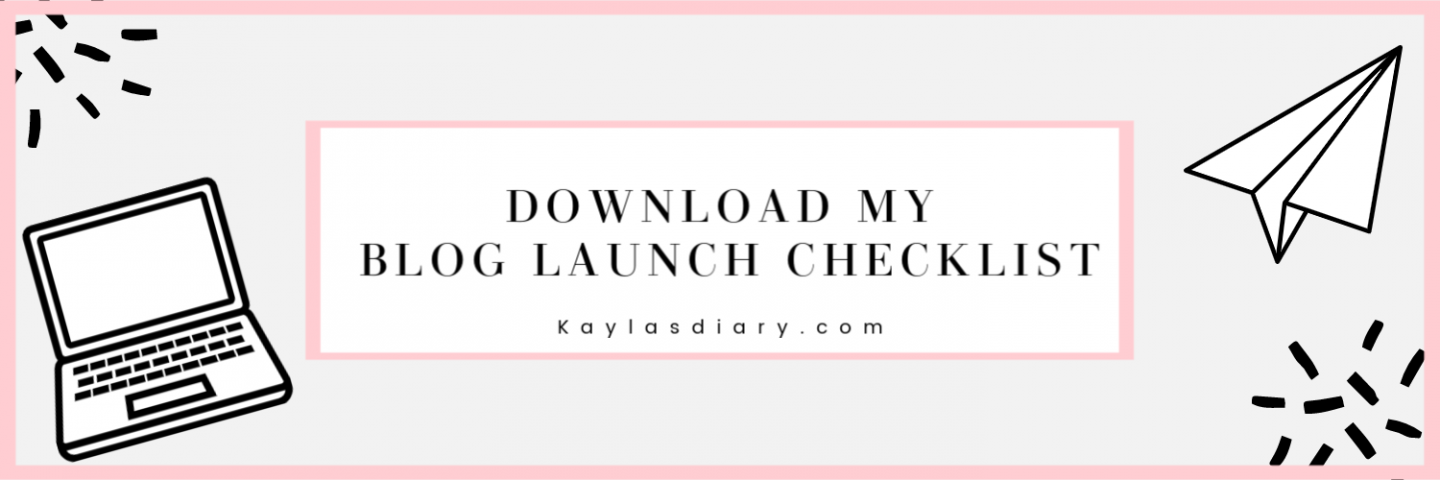how to start your own blog checklist