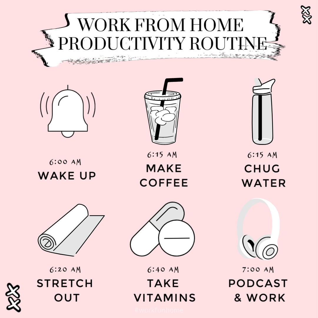 6 step morning routine to stay productive and motivated